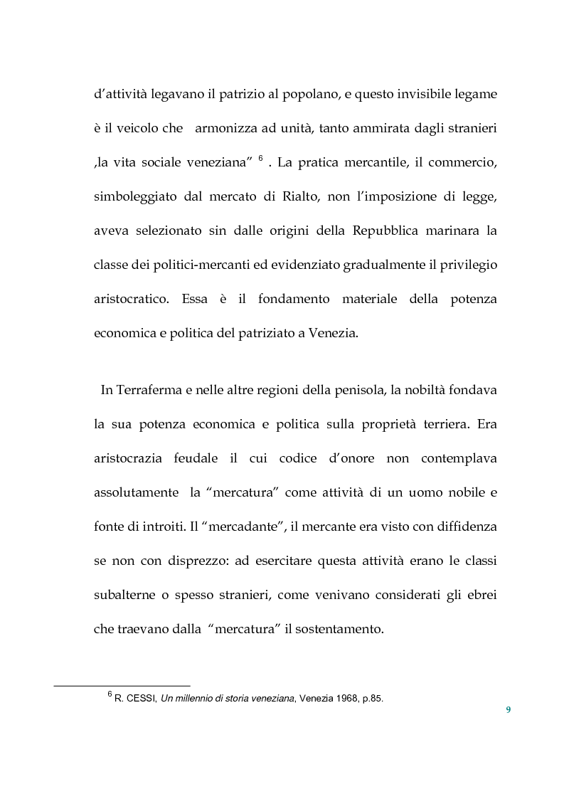 Anteprima della tesi: Tra politica e letteratura: il mito di Venezia, Pagina 6