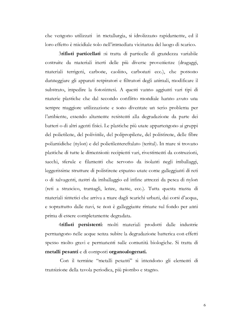 Anteprima della tesi: Valutazione dell'inquinamento da metalli pesanti nell'area antistante l'ex complesso industriale di Bagnoli, Pagina 6