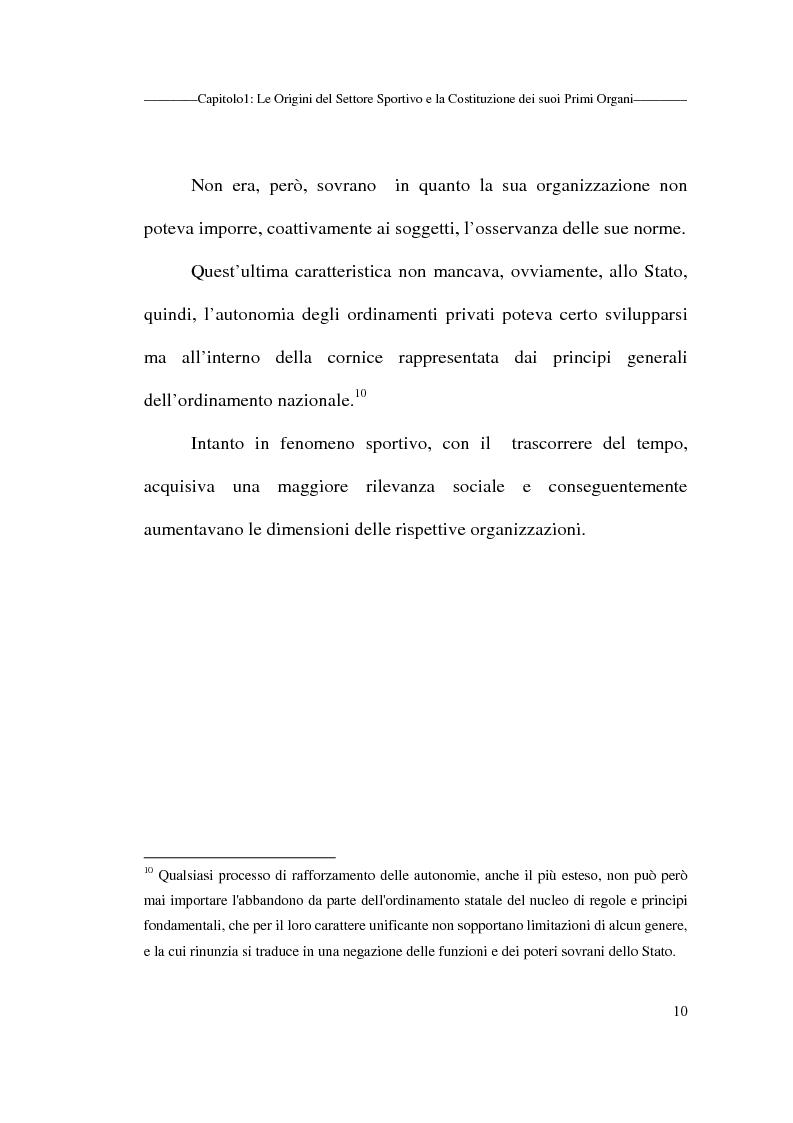 Anteprima della tesi: Profili giuridici delle società sportive, Pagina 10
