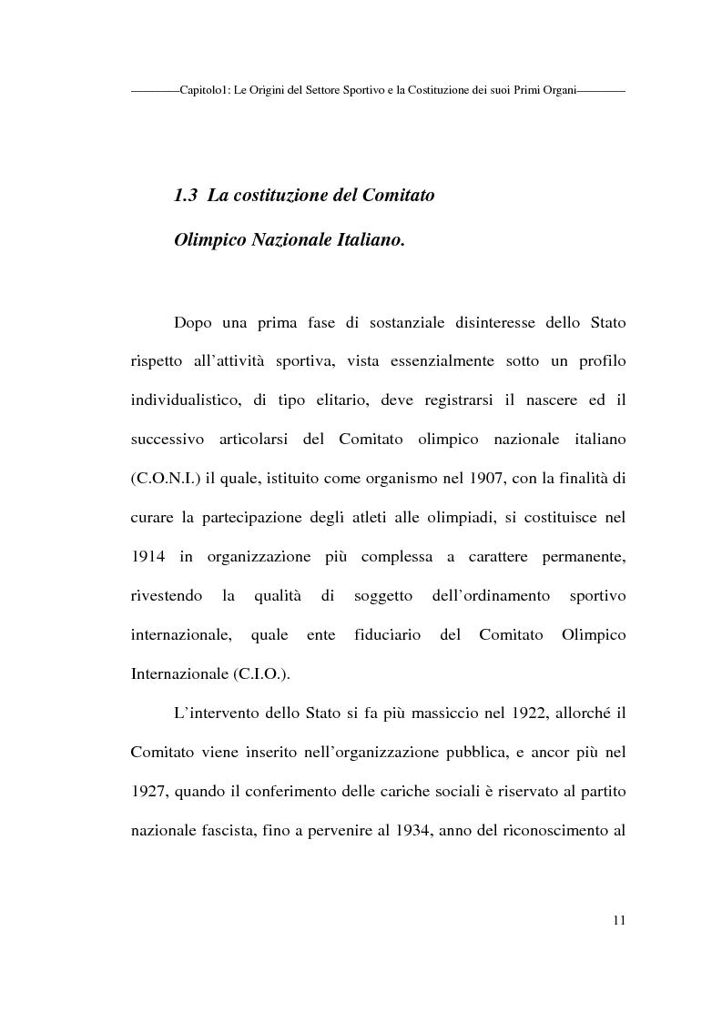 Anteprima della tesi: Profili giuridici delle società sportive, Pagina 11