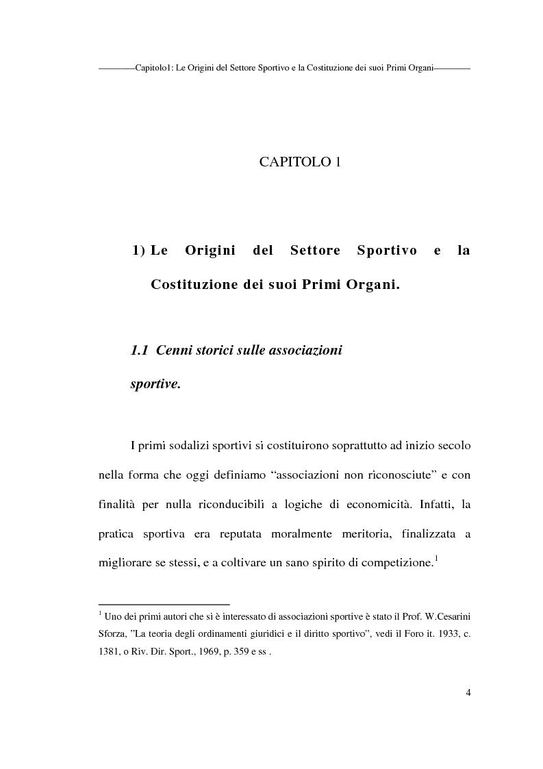 Anteprima della tesi: Profili giuridici delle società sportive, Pagina 4