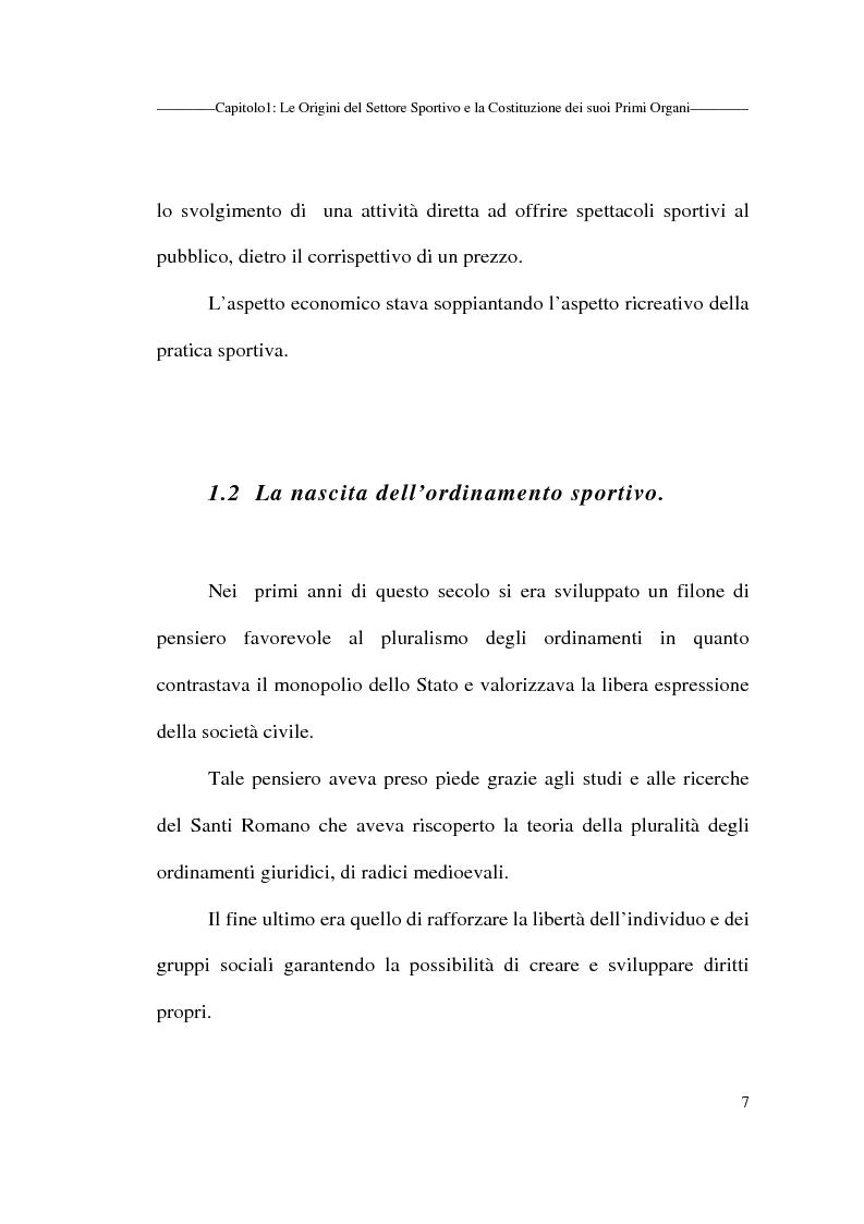 Anteprima della tesi: Profili giuridici delle società sportive, Pagina 7