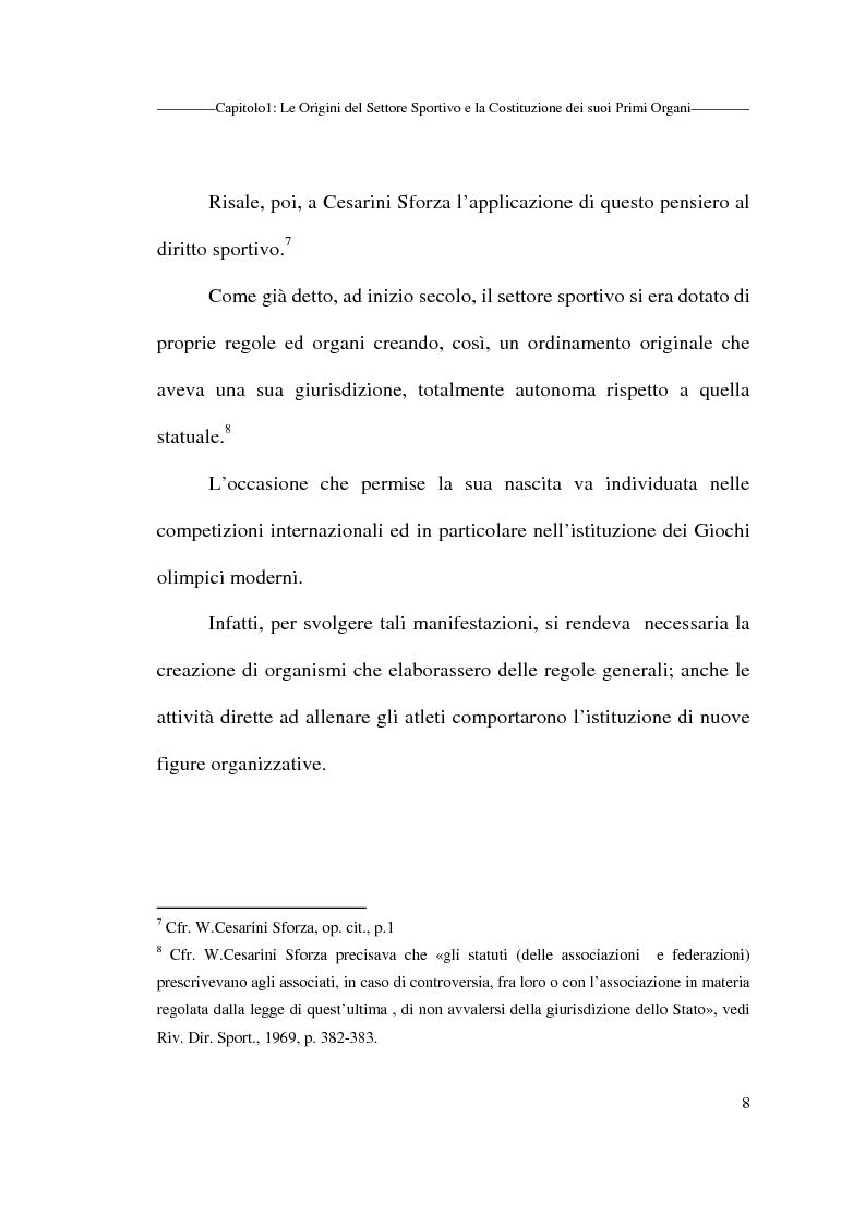 Anteprima della tesi: Profili giuridici delle società sportive, Pagina 8