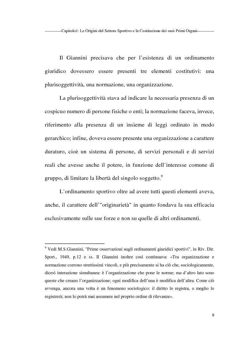 Anteprima della tesi: Profili giuridici delle società sportive, Pagina 9
