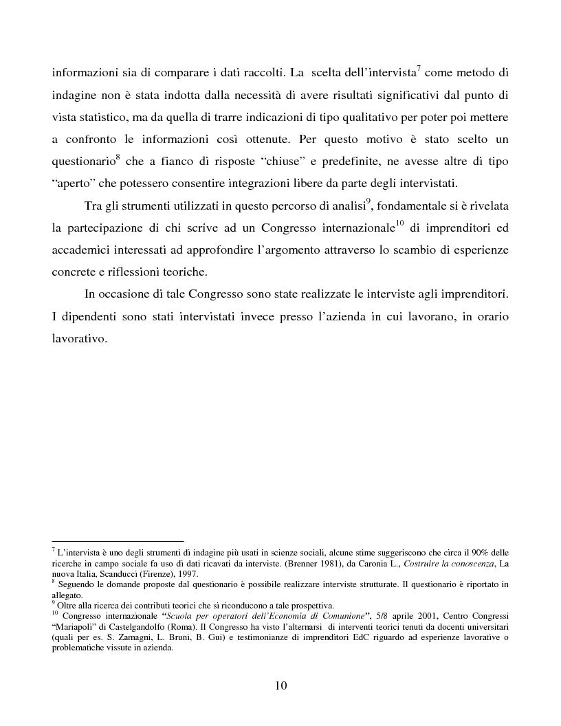 Anteprima della tesi: Le metafore organizzative nelle aziende di economia di comunione: tra metafora e realtà, Pagina 4