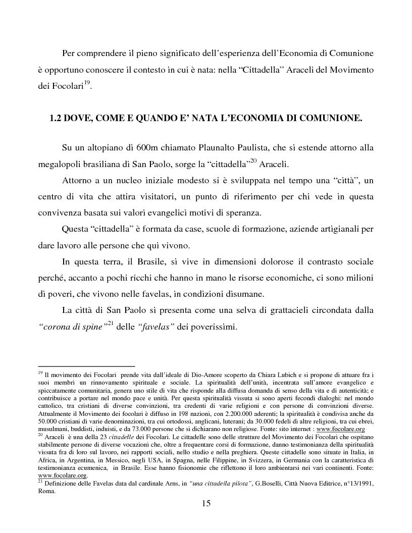 Anteprima della tesi: Le metafore organizzative nelle aziende di economia di comunione: tra metafora e realtà, Pagina 9