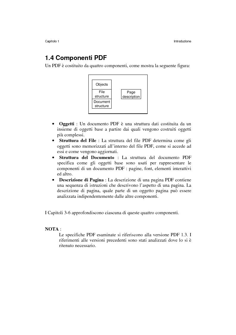 Anteprima della tesi: Analisi e manipolazione di documentazione in formato Pdf: un caso di studio, Pagina 11