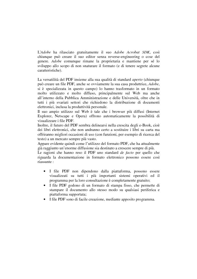 Anteprima della tesi: Analisi e manipolazione di documentazione in formato Pdf: un caso di studio, Pagina 2