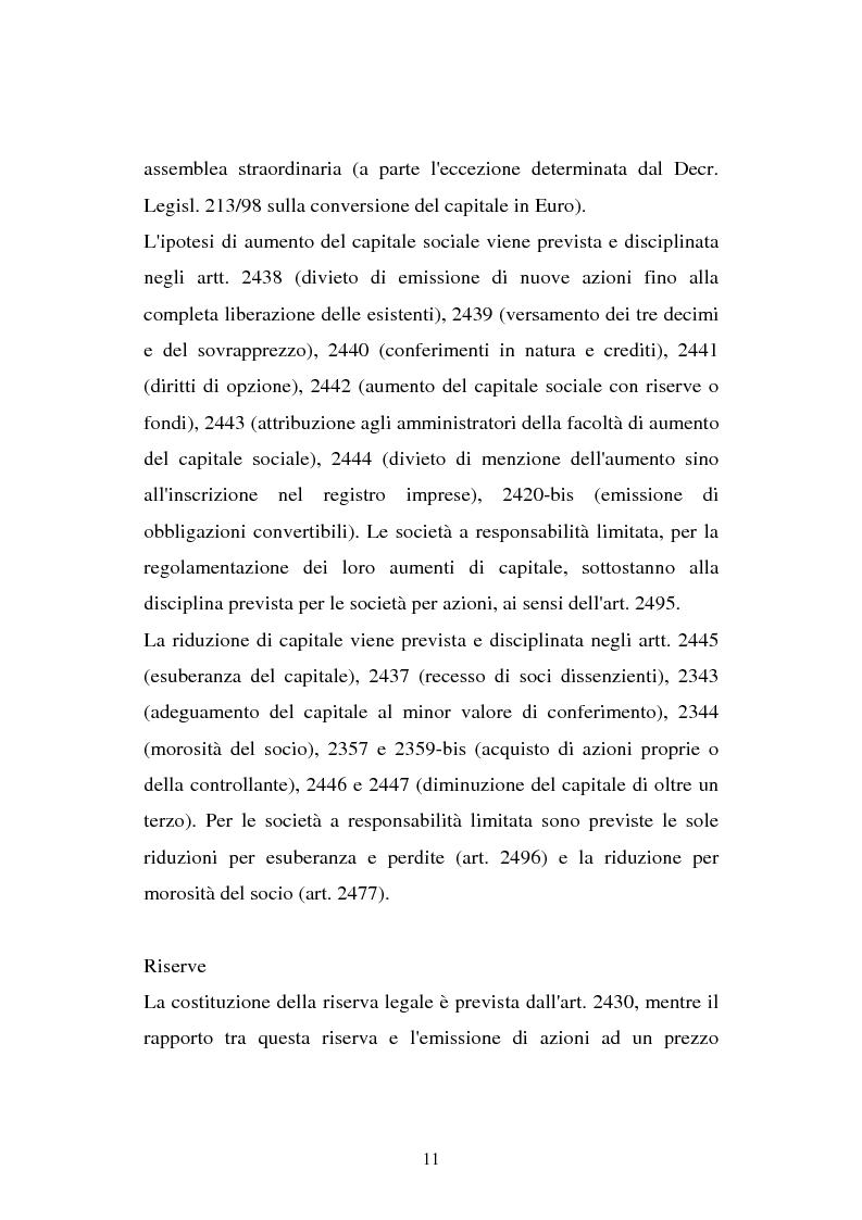 Anteprima della tesi: Il principio contabile n. 28 del Cndc e Cnr: il patrimonio netto. Aspetti contabili e fiscali, Pagina 11