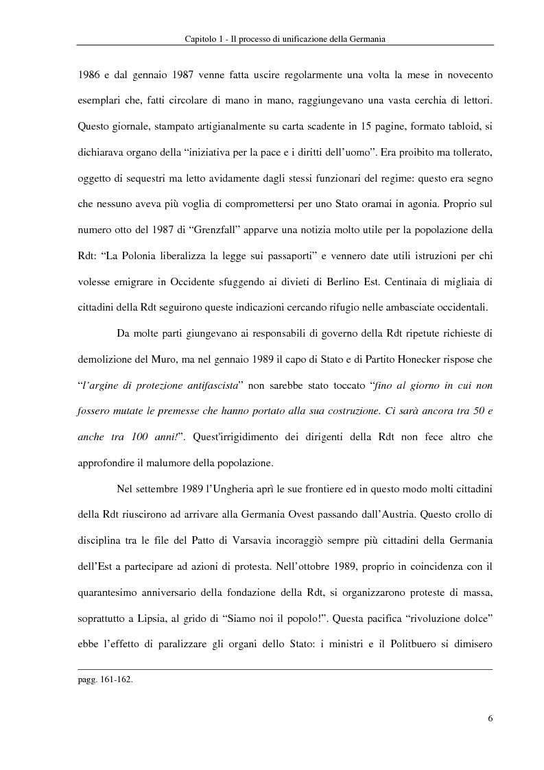 Anteprima della tesi: Interventi economici e politici per lo sviluppo dei nuovi laender tedeschi, Pagina 6