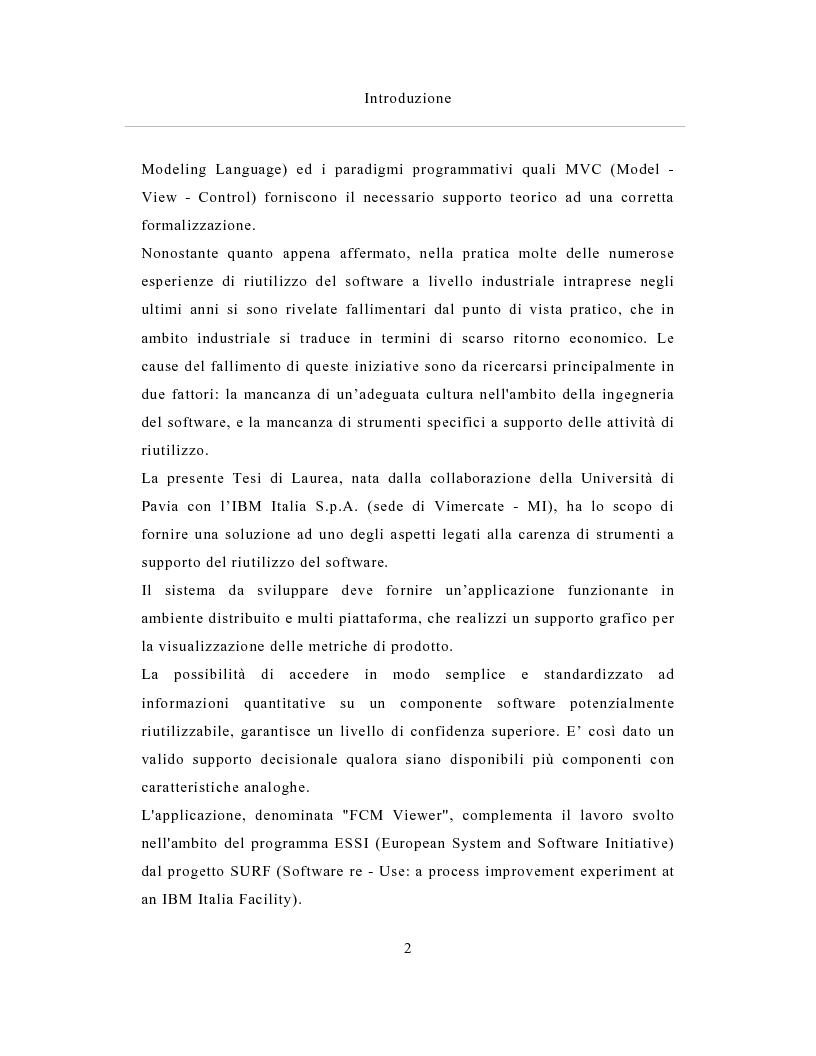 Anteprima della tesi: Un sistema distribuito per le metriche del software basato su java e Network Computer, Pagina 2