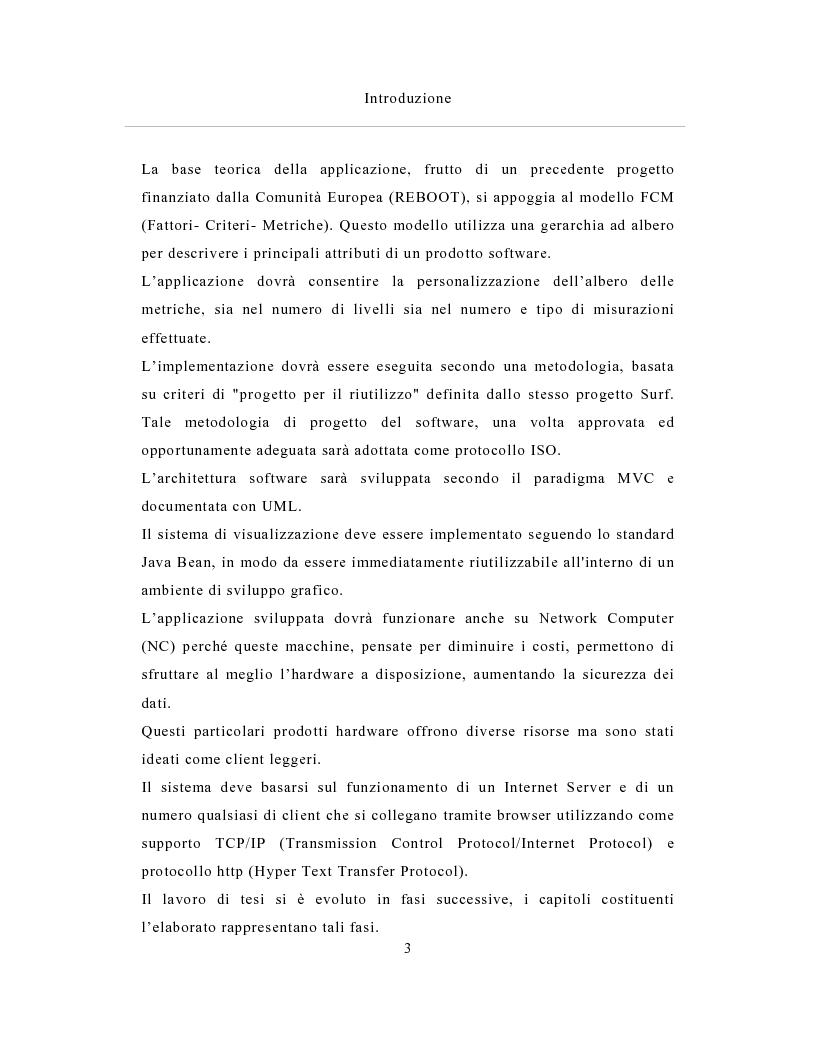 Anteprima della tesi: Un sistema distribuito per le metriche del software basato su java e Network Computer, Pagina 3