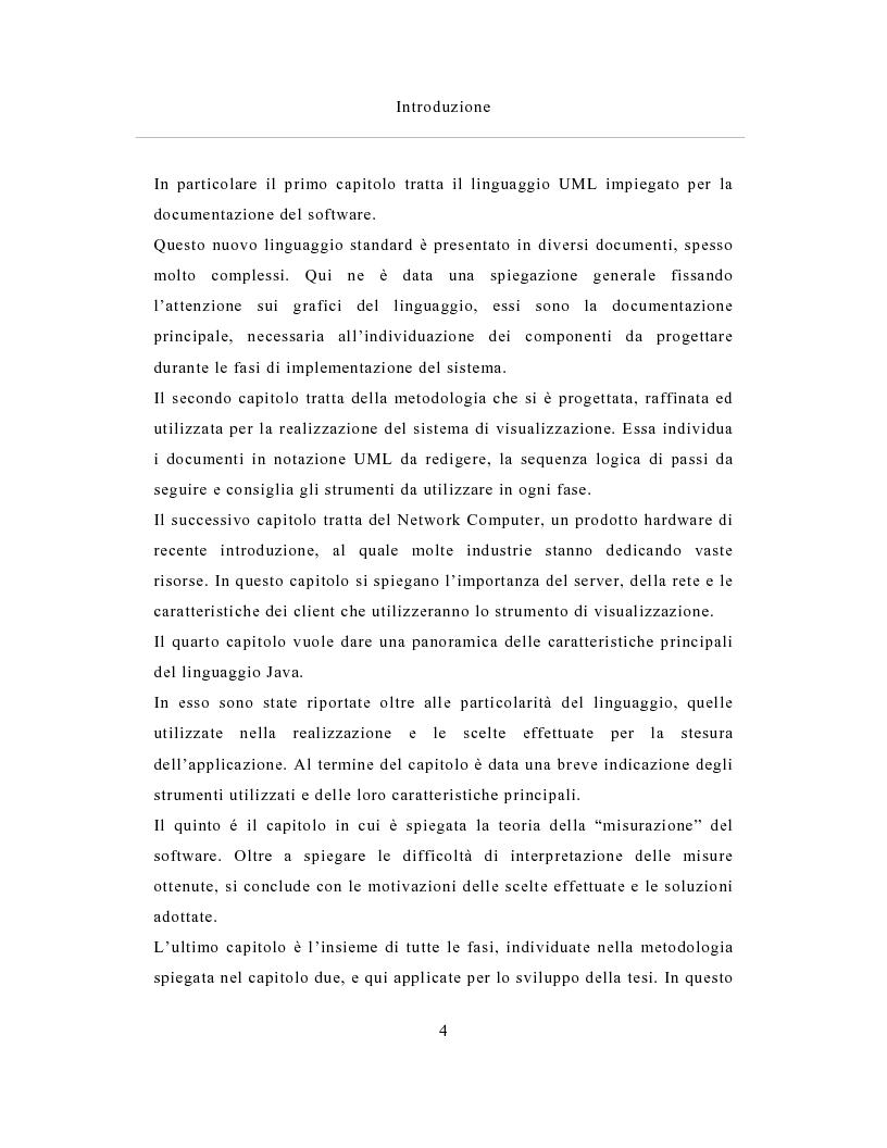 Anteprima della tesi: Un sistema distribuito per le metriche del software basato su java e Network Computer, Pagina 4