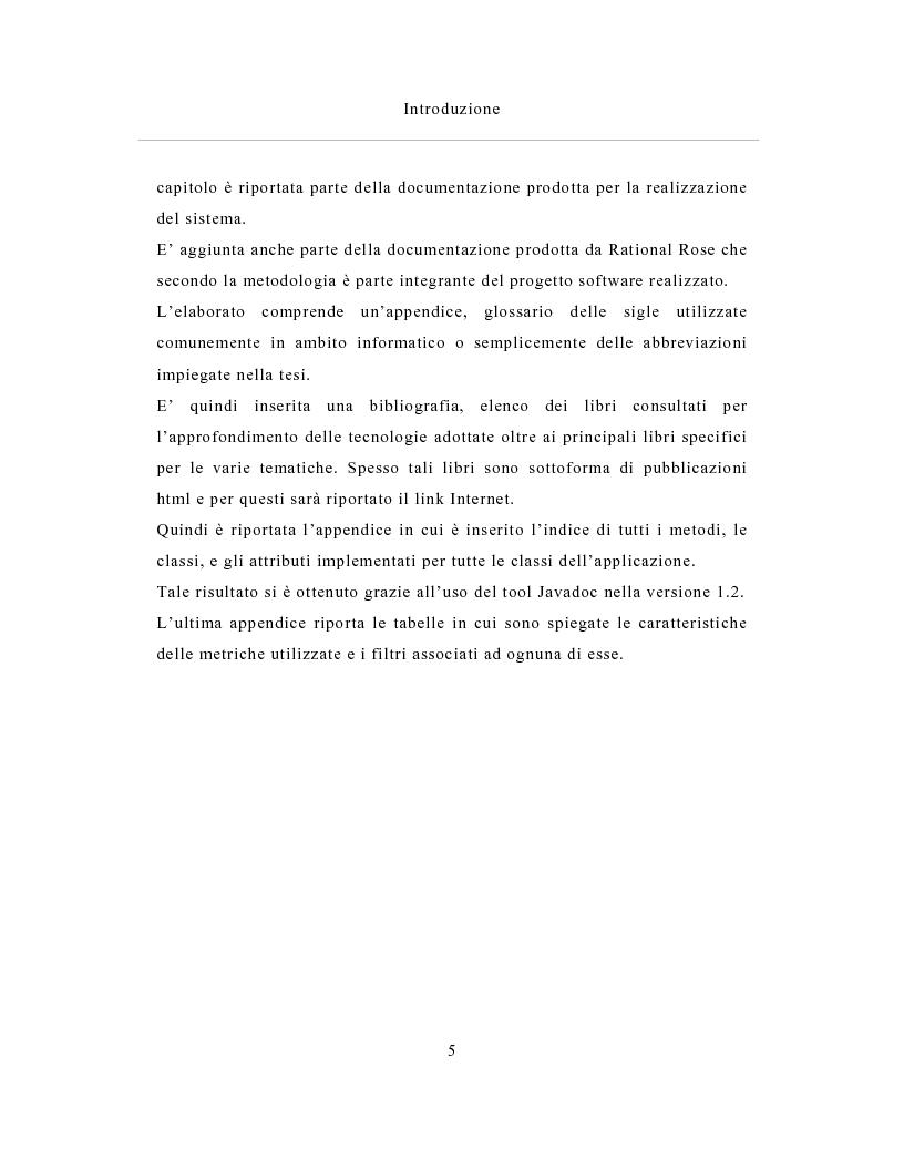 Anteprima della tesi: Un sistema distribuito per le metriche del software basato su java e Network Computer, Pagina 5