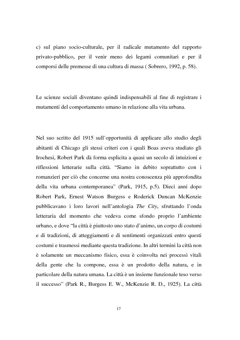 Anteprima della tesi: Migranti nello spazio: i luoghi della clandestinità nella città di Milano, Pagina 13