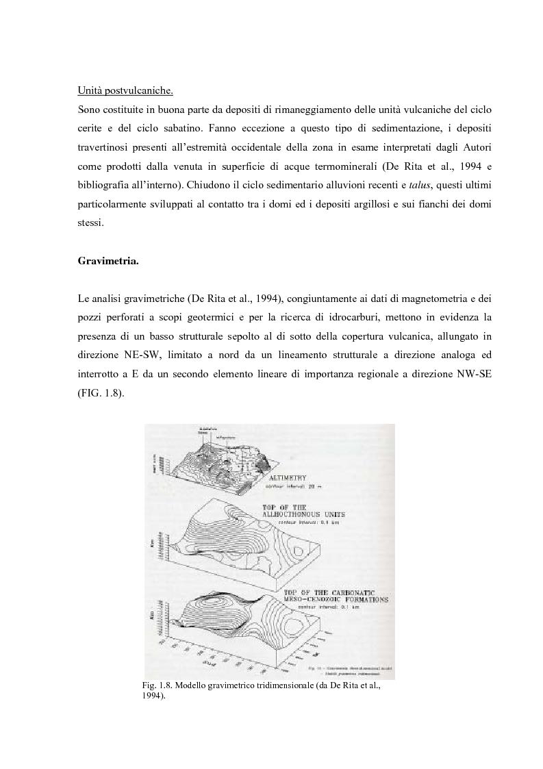 Anteprima della tesi: Controllo strutturale e modalità di messa in posto dei Domi Cimini, Pagina 13
