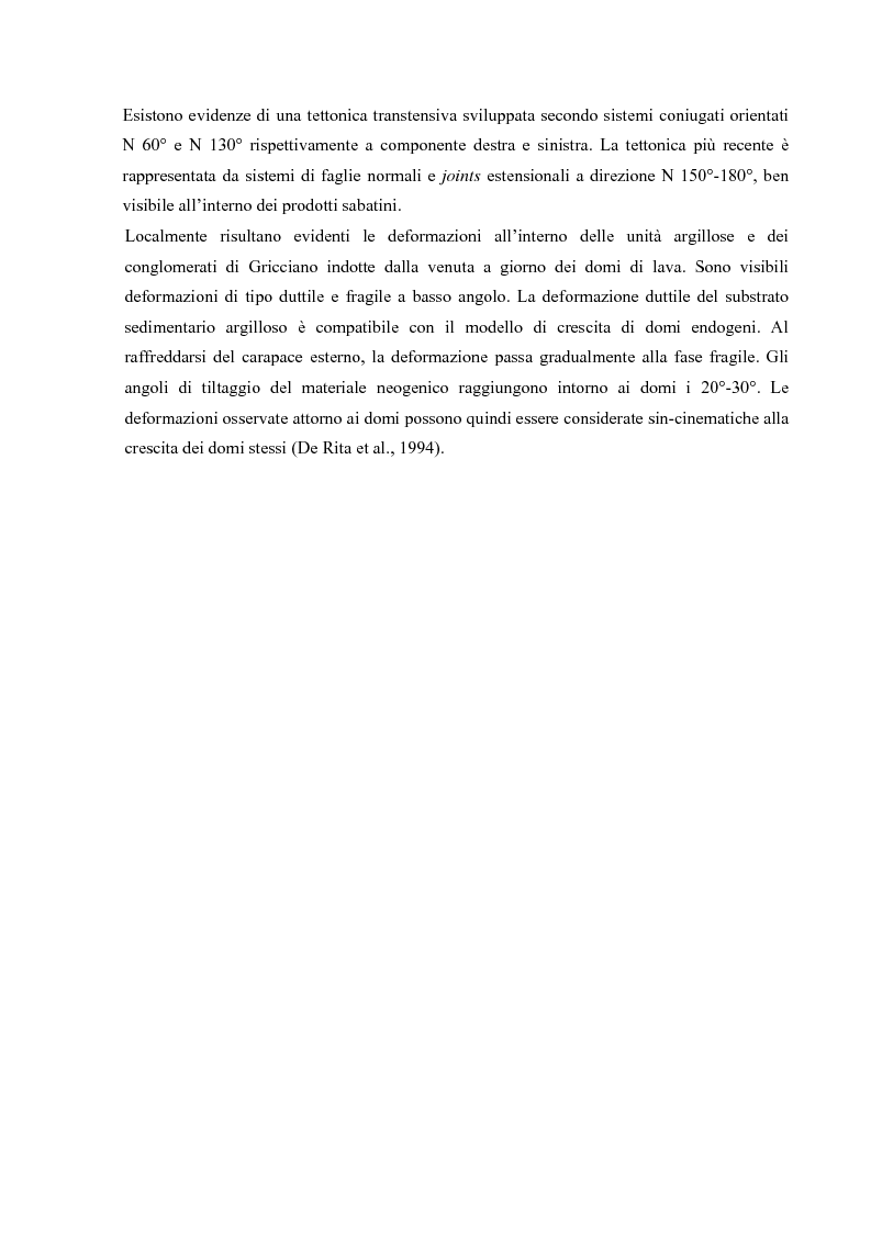 Anteprima della tesi: Controllo strutturale e modalità di messa in posto dei Domi Cimini, Pagina 15