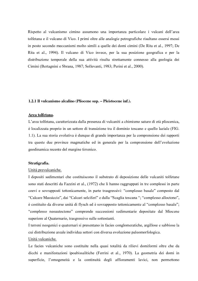 Anteprima della tesi: Controllo strutturale e modalità di messa in posto dei Domi Cimini, Pagina 8