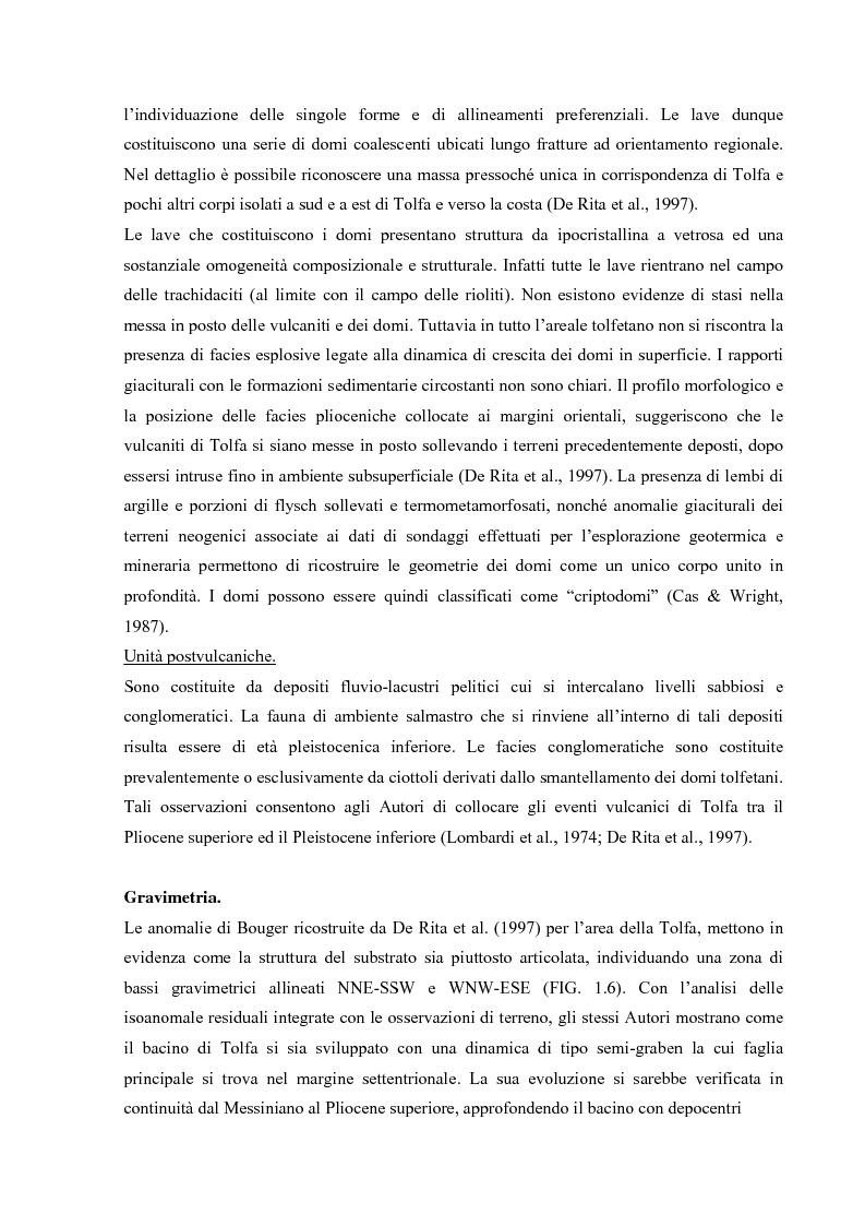 Anteprima della tesi: Controllo strutturale e modalità di messa in posto dei Domi Cimini, Pagina 9