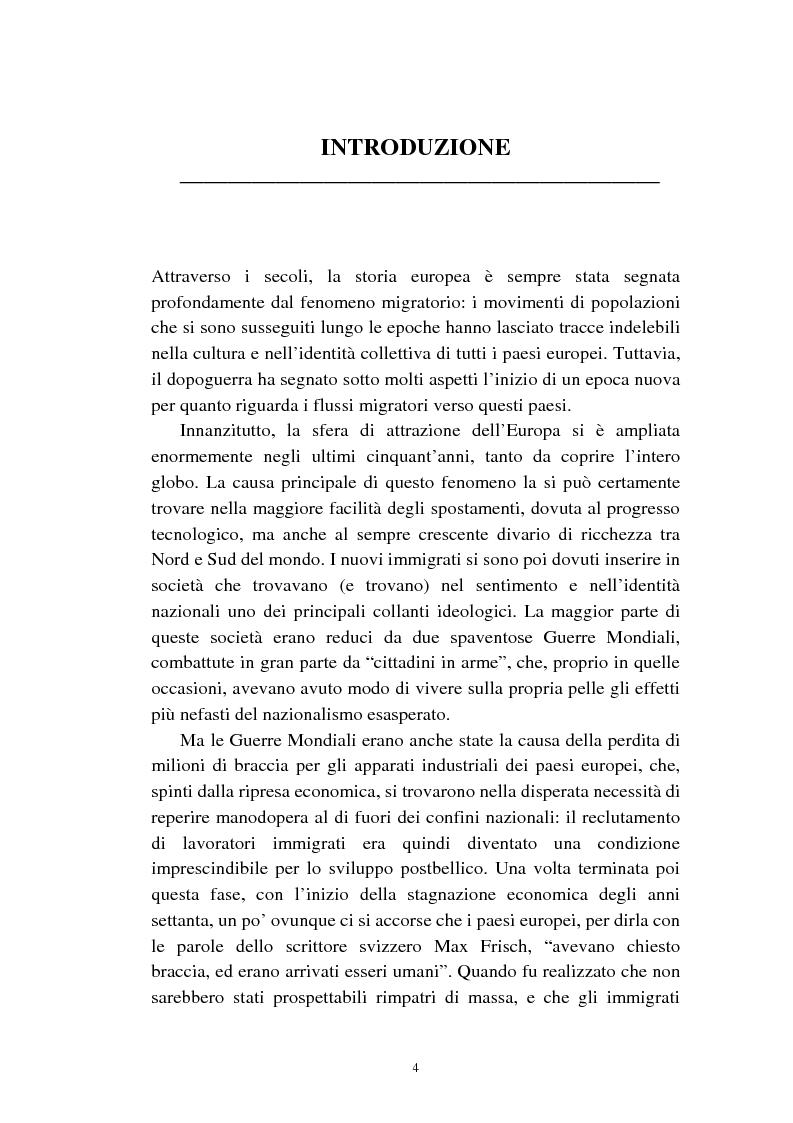 Anteprima della tesi: Le politiche relative agli immigrati in Svezia: analisi e comparazione con i principali modelli europei, Pagina 1