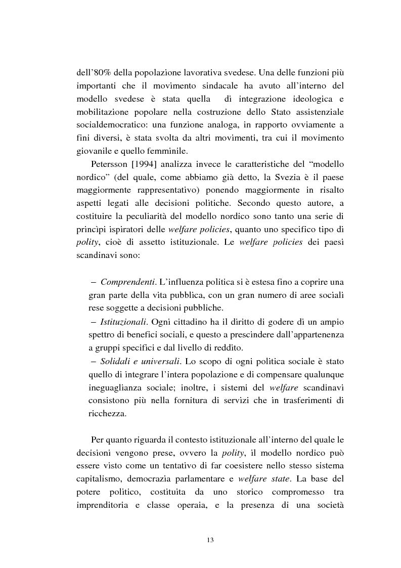 Anteprima della tesi: Le politiche relative agli immigrati in Svezia: analisi e comparazione con i principali modelli europei, Pagina 10