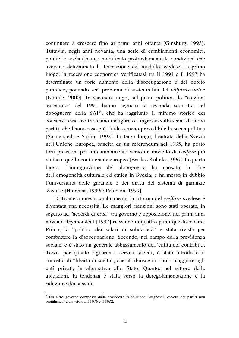 Anteprima della tesi: Le politiche relative agli immigrati in Svezia: analisi e comparazione con i principali modelli europei, Pagina 12