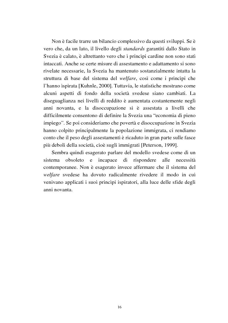 Anteprima della tesi: Le politiche relative agli immigrati in Svezia: analisi e comparazione con i principali modelli europei, Pagina 13