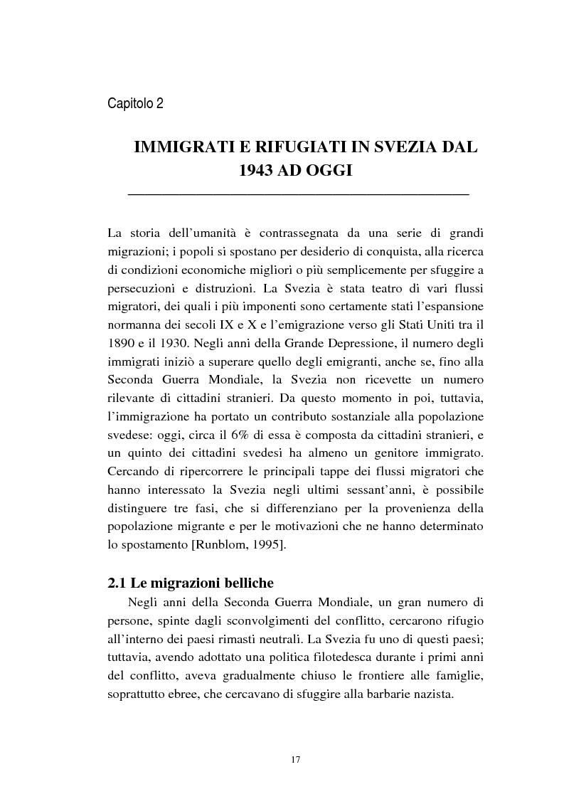 Anteprima della tesi: Le politiche relative agli immigrati in Svezia: analisi e comparazione con i principali modelli europei, Pagina 14