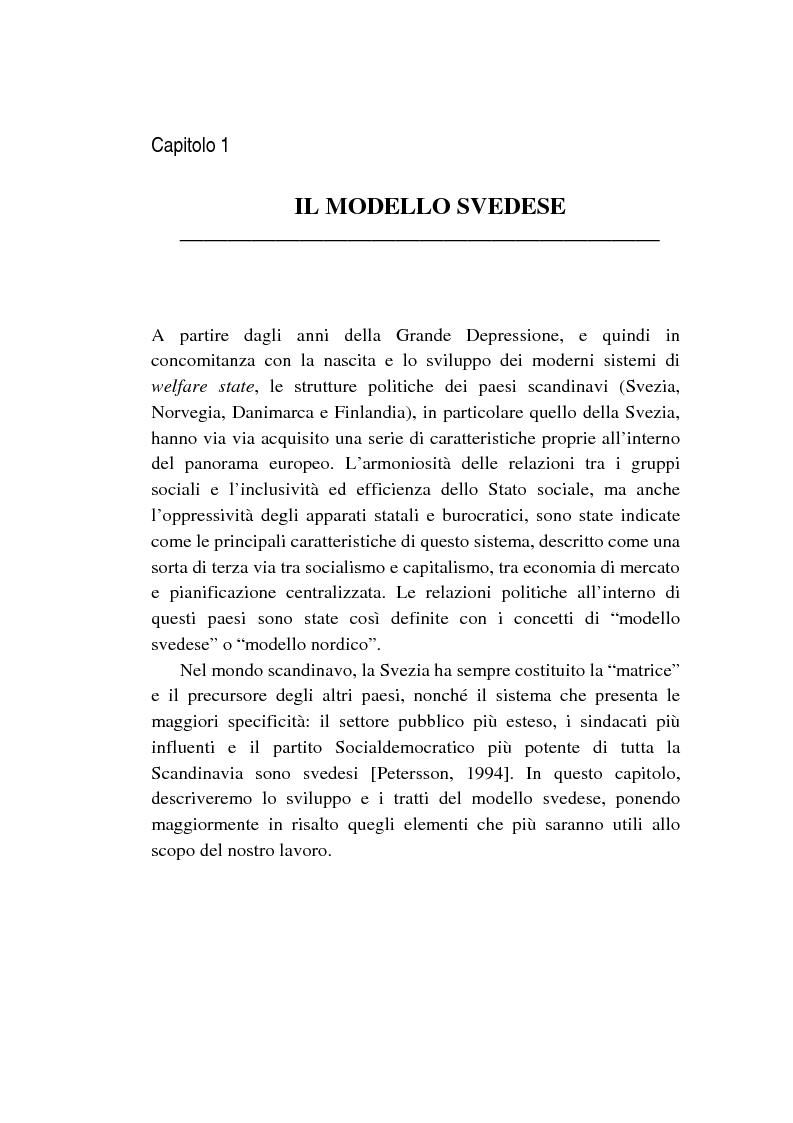 Anteprima della tesi: Le politiche relative agli immigrati in Svezia: analisi e comparazione con i principali modelli europei, Pagina 5