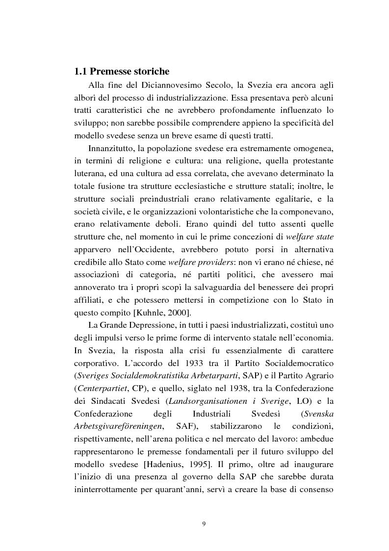 Anteprima della tesi: Le politiche relative agli immigrati in Svezia: analisi e comparazione con i principali modelli europei, Pagina 6
