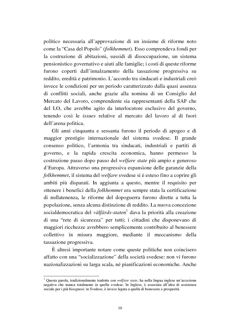 Anteprima della tesi: Le politiche relative agli immigrati in Svezia: analisi e comparazione con i principali modelli europei, Pagina 7