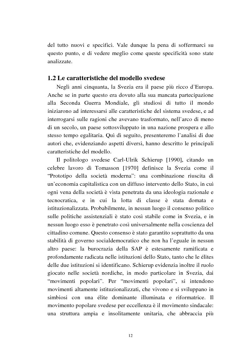 Anteprima della tesi: Le politiche relative agli immigrati in Svezia: analisi e comparazione con i principali modelli europei, Pagina 9