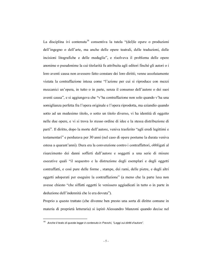 Anteprima della tesi: Analisi comparata del diritto d'autore in Italia e in Francia, Pagina 10