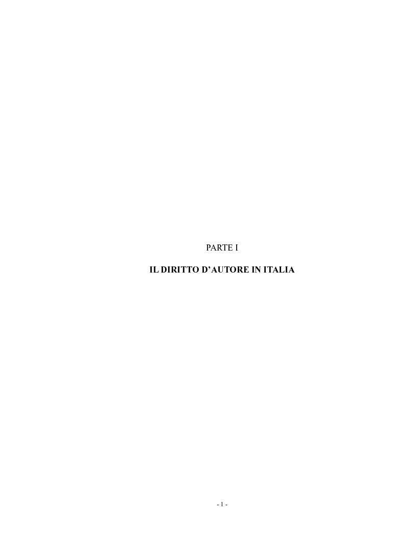 Anteprima della tesi: Analisi comparata del diritto d'autore in Italia e in Francia, Pagina 6