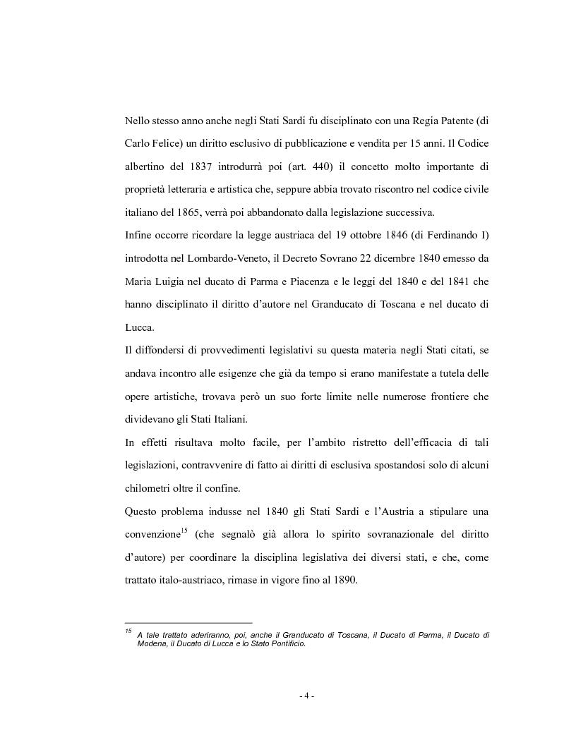 Anteprima della tesi: Analisi comparata del diritto d'autore in Italia e in Francia, Pagina 9