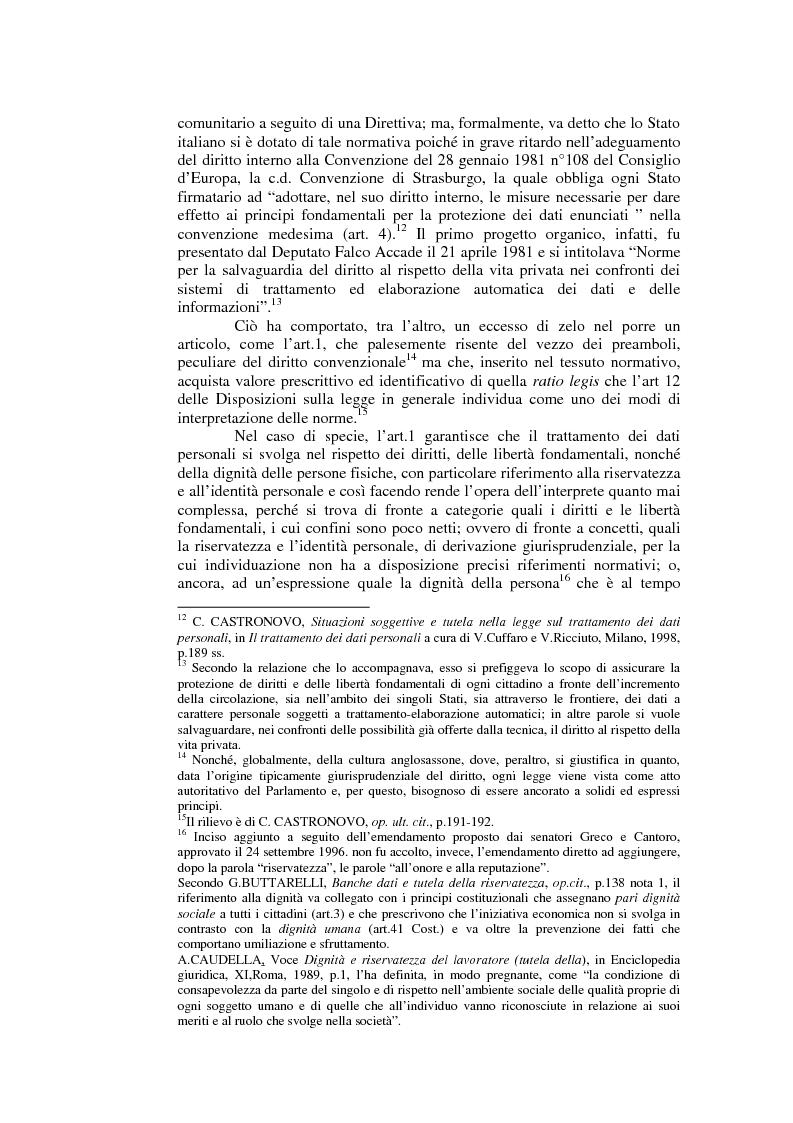 Anteprima della tesi: Il consenso al trattamento dei dati personali, Pagina 2
