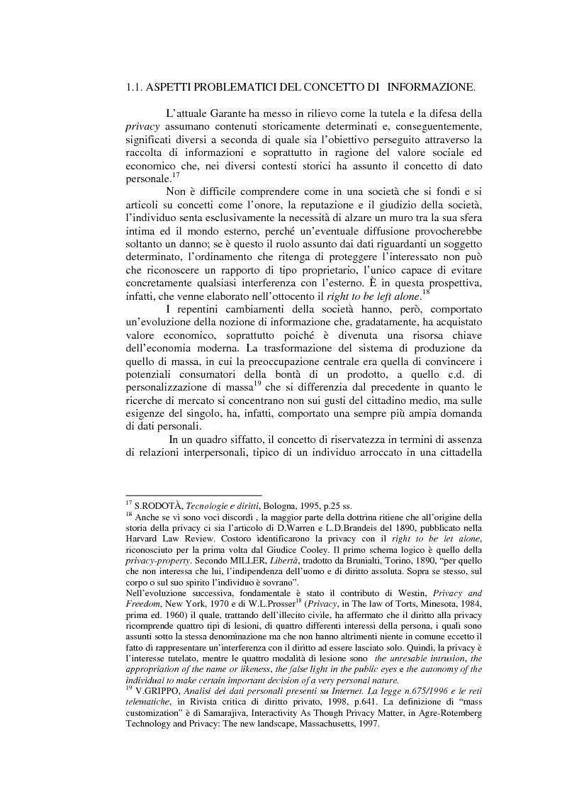 Anteprima della tesi: Il consenso al trattamento dei dati personali, Pagina 4
