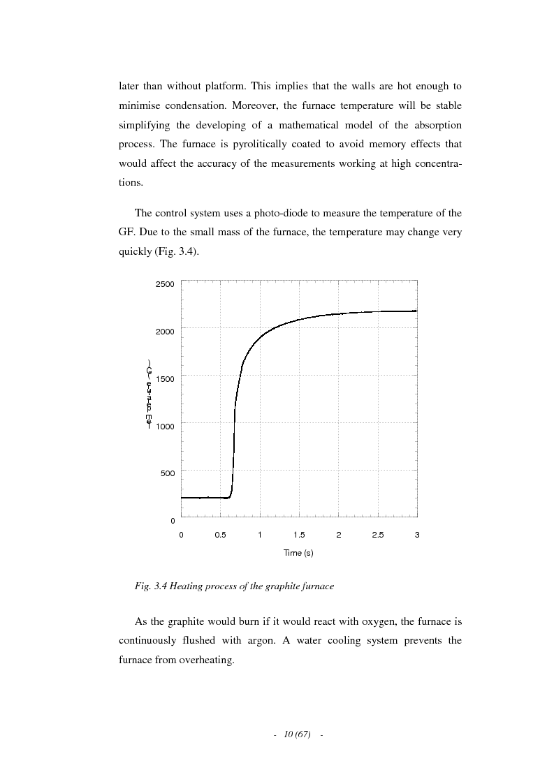 Anteprima della tesi: A Characterisation of the Wavelength Modulated Diode Laser Absorption Spectrometry Technique in Graphite Furnace, Pagina 7