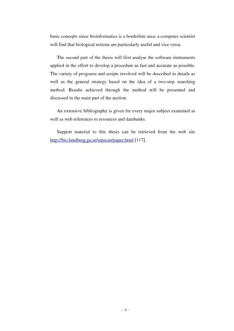 Anteprima della tesi: Prediction of signal recognition particle RNA genes, Pagina 2