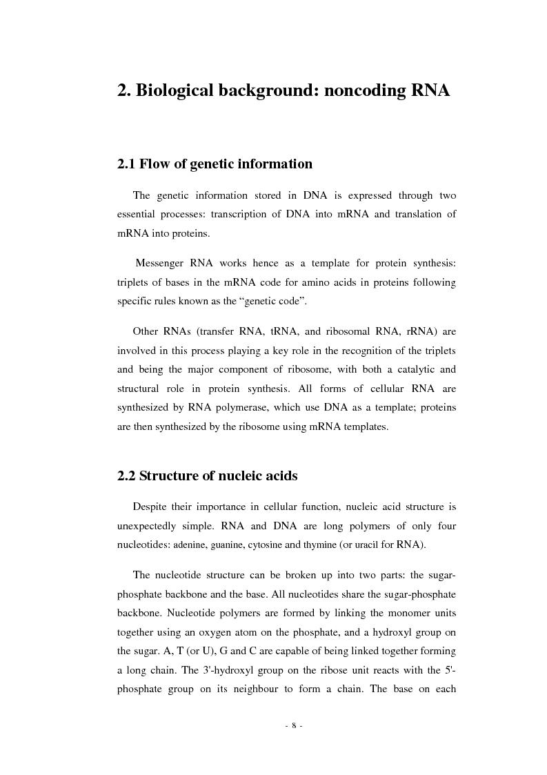 Anteprima della tesi: Prediction of signal recognition particle RNA genes, Pagina 4