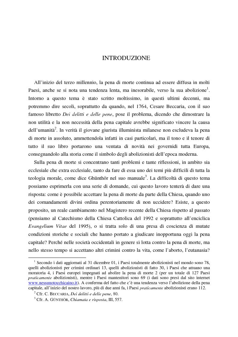 Anteprima della tesi: La pena di morte tra etica della vita e autorità dello Stato, Pagina 1