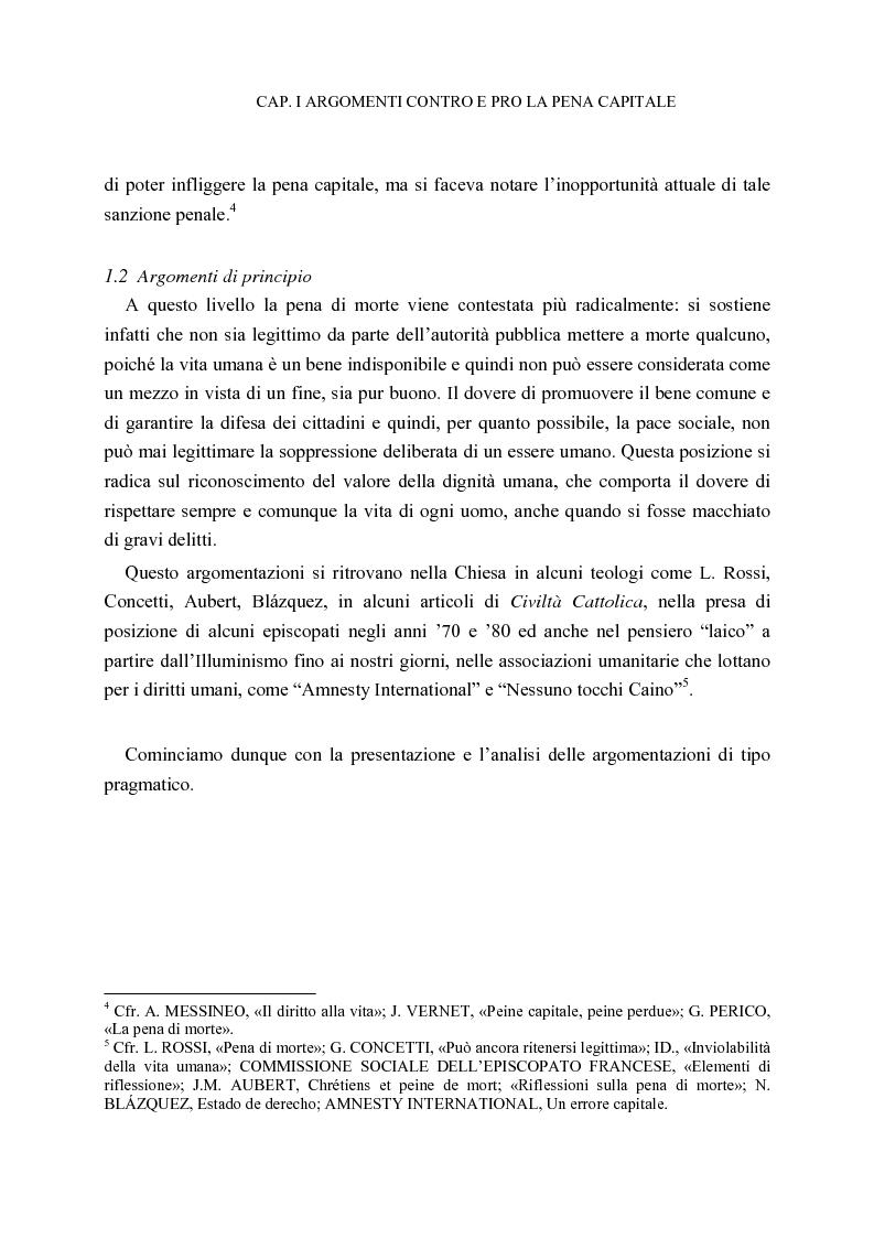 Anteprima della tesi: La pena di morte tra etica della vita e autorità dello Stato, Pagina 11