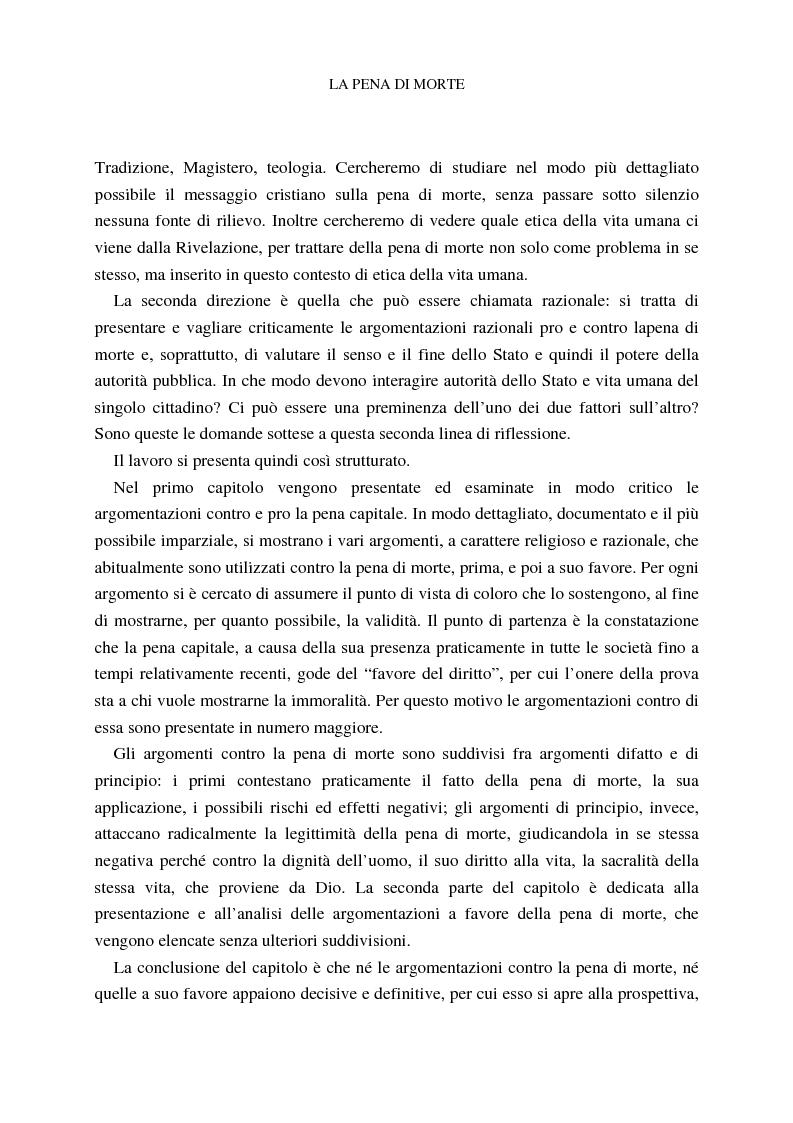 Anteprima della tesi: La pena di morte tra etica della vita e autorità dello Stato, Pagina 4