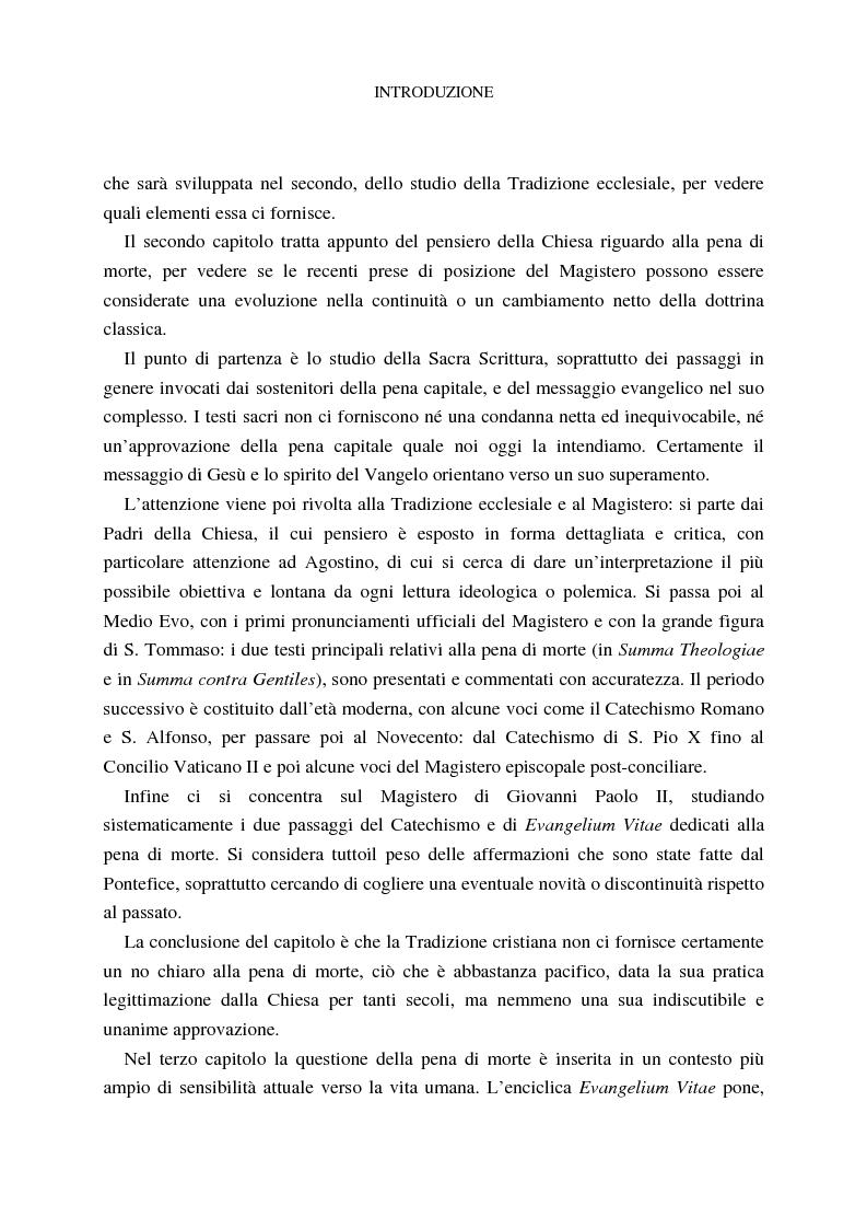 Anteprima della tesi: La pena di morte tra etica della vita e autorità dello Stato, Pagina 5