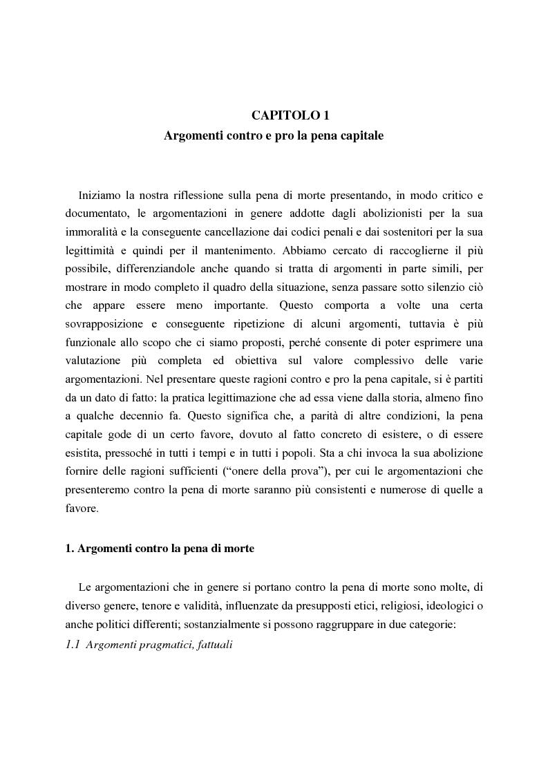 Anteprima della tesi: La pena di morte tra etica della vita e autorità dello Stato, Pagina 9