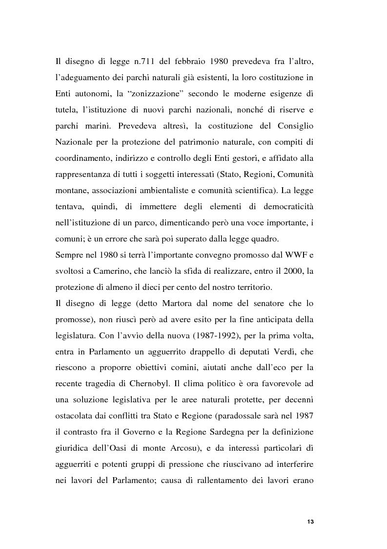 Anteprima della tesi: Parchi e società. La nascita dell'Oasi Wwf di Monte Arcosu, Pagina 10