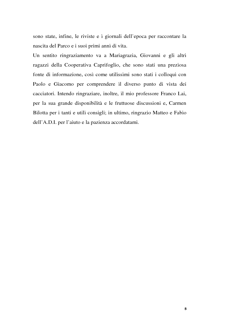 Anteprima della tesi: Parchi e società. La nascita dell'Oasi Wwf di Monte Arcosu, Pagina 2