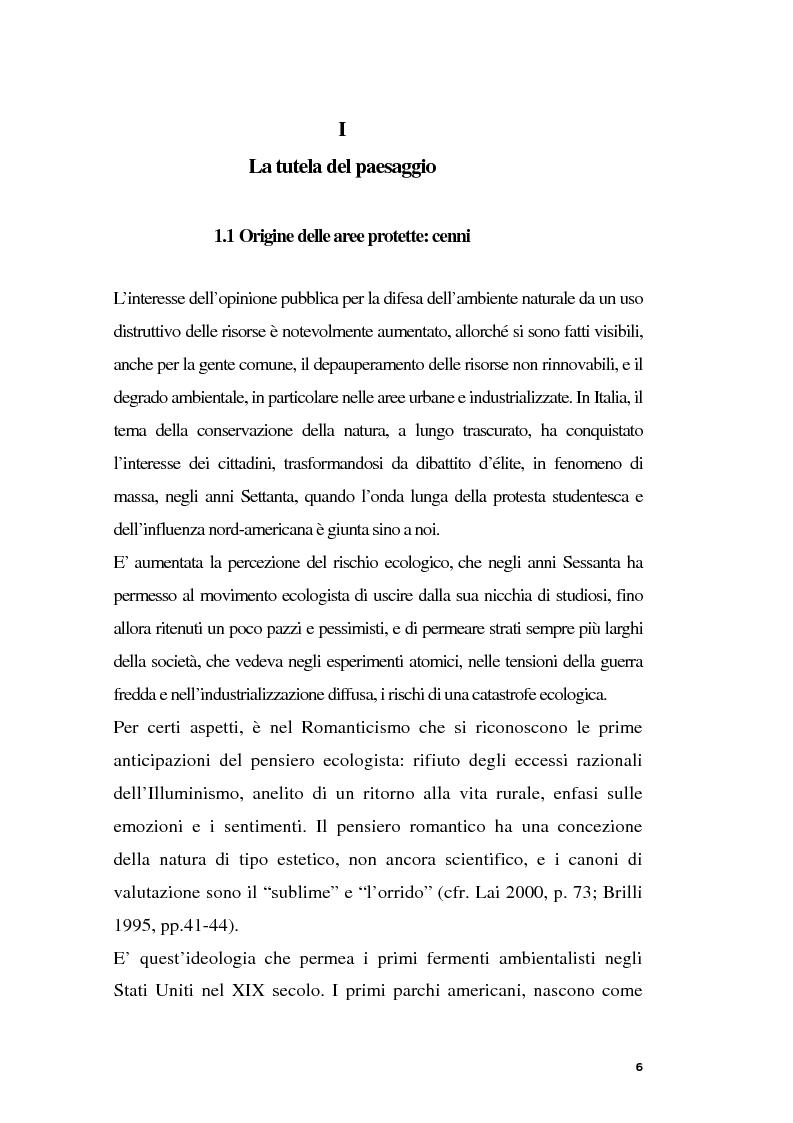 Anteprima della tesi: Parchi e società. La nascita dell'Oasi Wwf di Monte Arcosu, Pagina 3