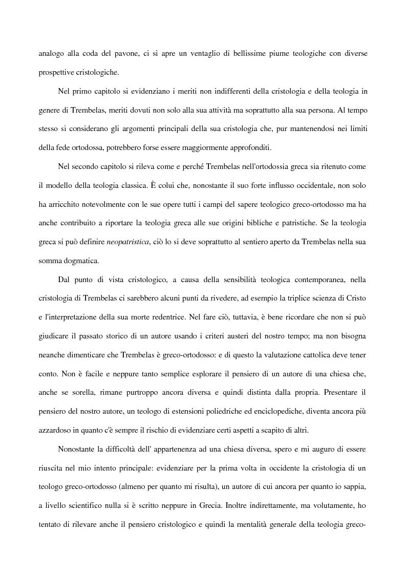 Anteprima della tesi: La Cristologia di Trembelas Panaghiotis: un teologo greco ortodosso del nostro secolo, Pagina 5