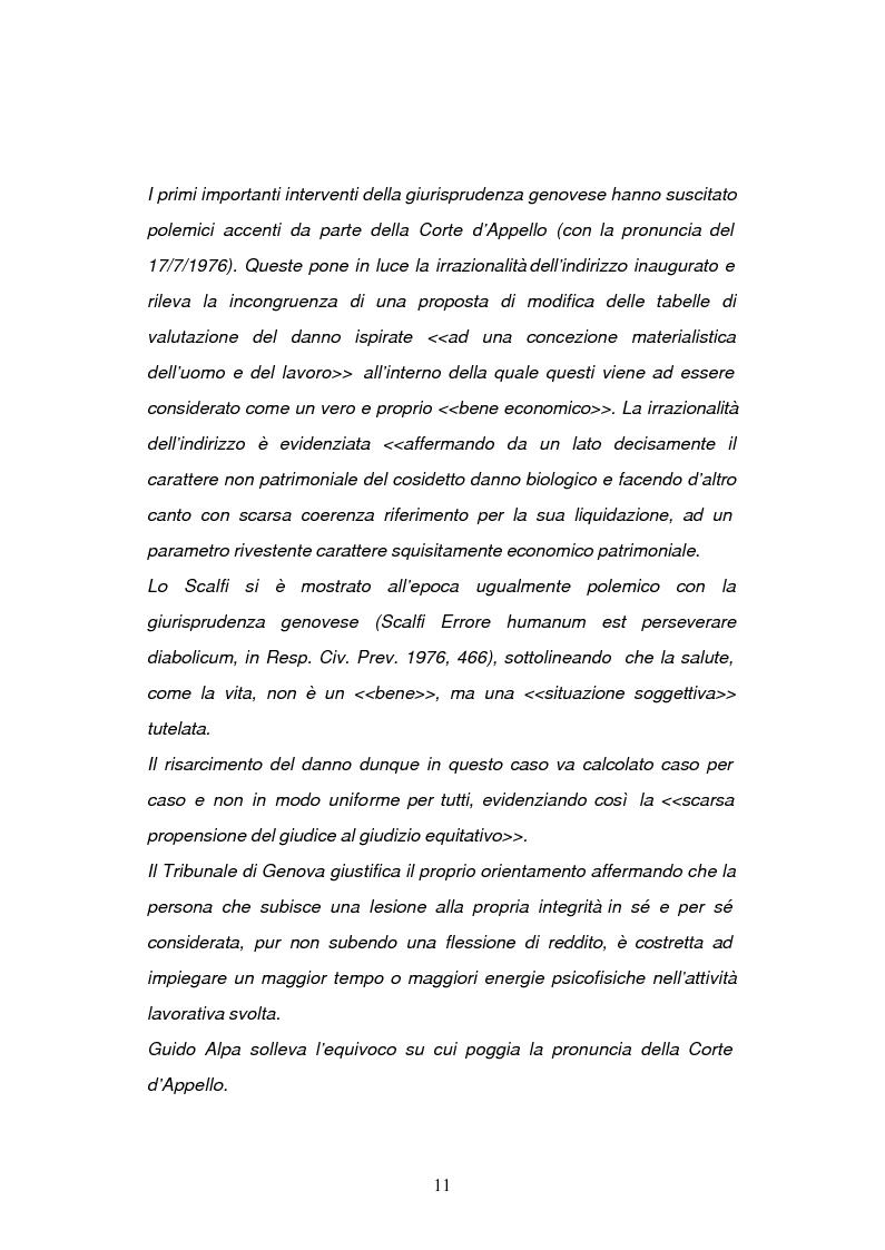 Anteprima della tesi: La risarcibilità del danno biologico da morte, Pagina 10